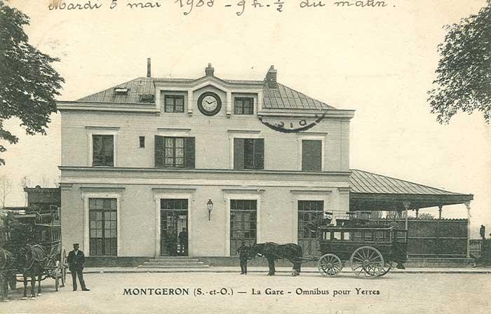 Gare Montgeron vers 1905