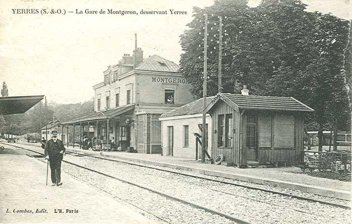 Gare de Montgeron vers 1918
