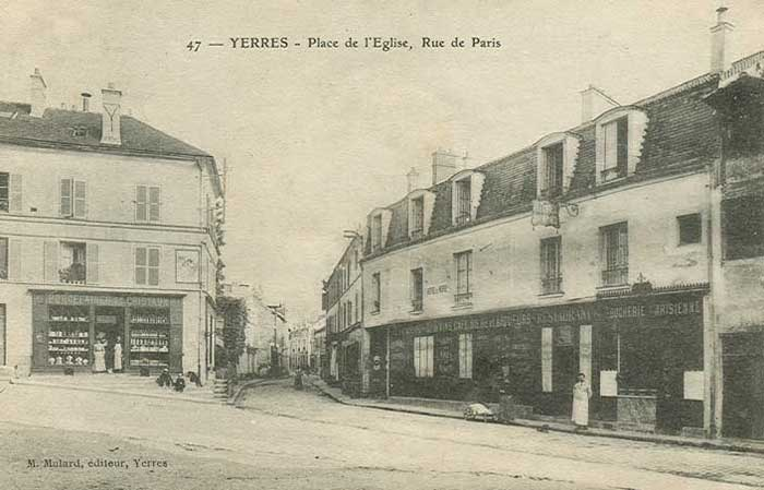 Rue de Paris, place de l'Eglise