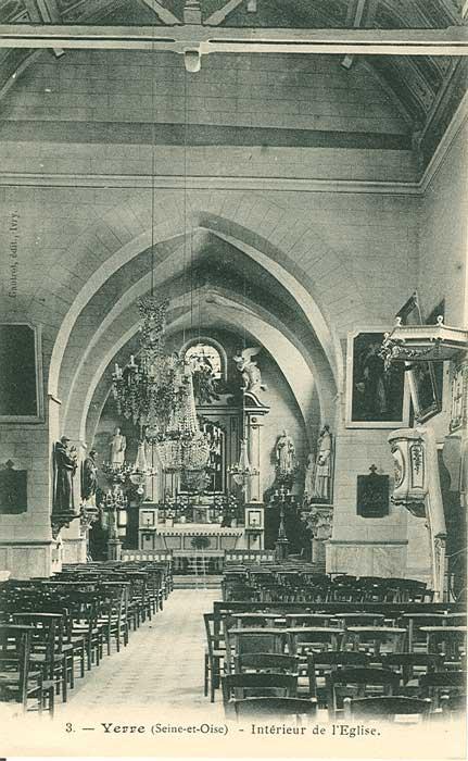 Intérieur Eglise Yerres